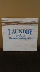 Wood Laundry Sign