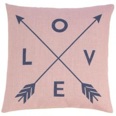 Love with Crossed Arrows Decorative Throw Pillow