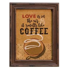 Love Smells Like Coffee Framed Sign