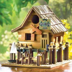 Yacht Club Resort Wood Birdhouse