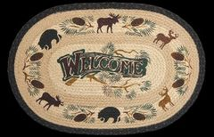 Welcome Lodge 20x30 Oval Rug