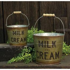 2/Set, Milk & Cream Buckets