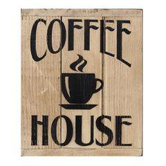 Coffee House 3-Panel Sign