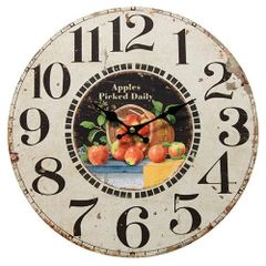 Apples Picked Fresh Daily Wall Clock