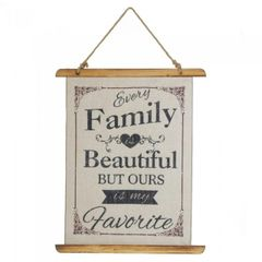 Linen Wall Art - Every Family is Beautiful