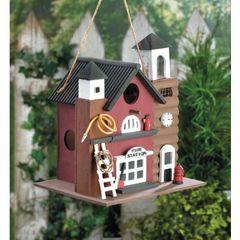 Fire Station Birdhouse