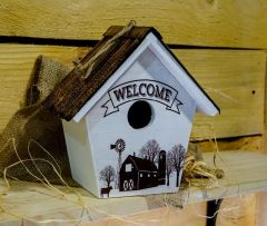 Welcome Wood Birdhouse