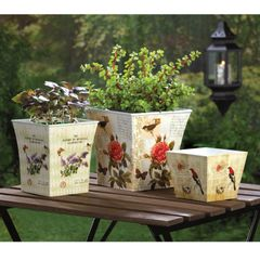 Vintage-Look Planter Set