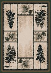 Stoic Pines Rug- Rectangle - 8x11 - Forest
