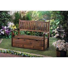 Country Garden Grove Storage Bench Furnishing
