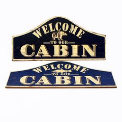 Welcome Cabin Wood Sign
