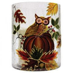 Owl & Pumpkin Pillar Small