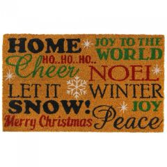 Christmas Cheer Coir Welcome Mat