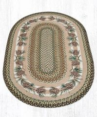 Needles and Pine Cones Oval Rug