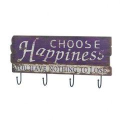 Choose Happiness Wall Hook