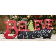Believe in Magic Resin Banner