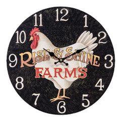 Rise & Shine Farms Clock