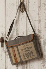 Canvas Messenger Bag - Do All Things With Love