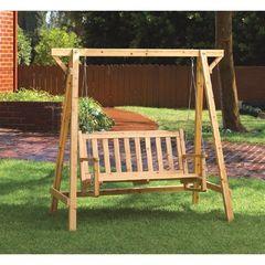 Rustic Garden Chair Swing