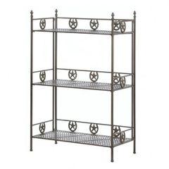 Western Horseshoe Iron Rack