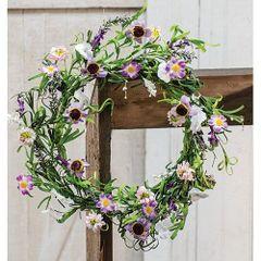 """Spring Lilac Garden Wreath, 20"""""""