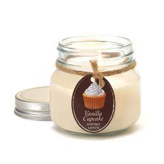 Vanilla Cupcake Mason Jar Candle