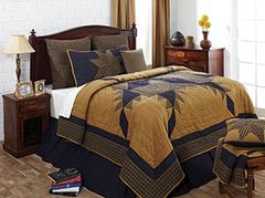 Navy Star King Quilt