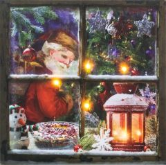 Santa Window Light-Up Canvas