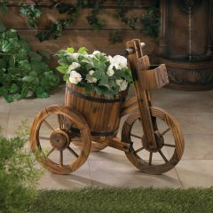 Country Barrel Tricycle Planter