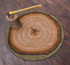 Tree Stump Round 6 ft Round Rug
