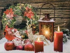 Holiday Candle Lightup Canvas