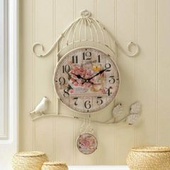 Country Rose Iron Wall Clock