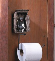Country Bear Outhouse Toilet Paper Holder