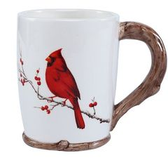 Winter Berry Cardinal Mug