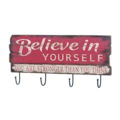 Believe In Yourself Wall Hook