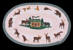 Lodge Cabin 20x30 Oval Rug
