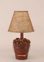 Mini Bucket of Pine Cones Lamp