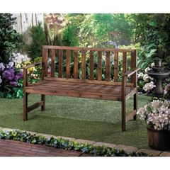 Country Garden Wood Bench Furnishing