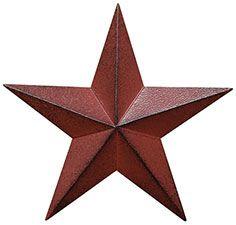 "Burgundy Barn Star - 12"""