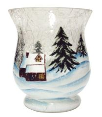 VOTIVE HOLDER-WINTER WONDERLAND