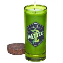 Bottle Candle with Cork Lid - Mojito