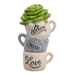 Grow With Love Coffee Cups