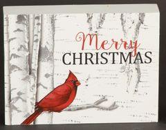 Merry Christmas Cardinal Sign