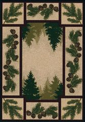 Pine Forest Rug- Rectangle - 8x11 - Maize