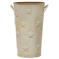 """Cream Flower Bucket, 7"""""""