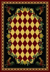 High Country Rooster - Rectangle - 5x8 - Red Rug