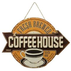 Fresh Brewed Coffeehouse Sign