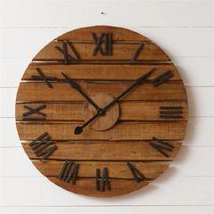 Clock - Wooden Slats