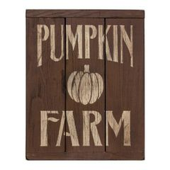 Pumpkin Farm 3-Panel Sign, Brown