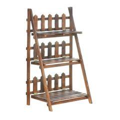 Picket Fence Plant Shelf Stand